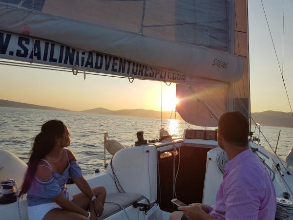 xsailing split sunset tour